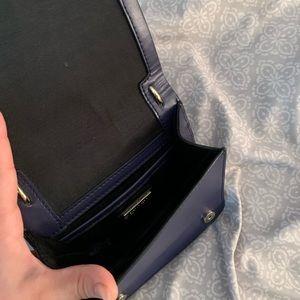 BCBGMaxAzria Bags - Navy leather BCBG crossbody handbag